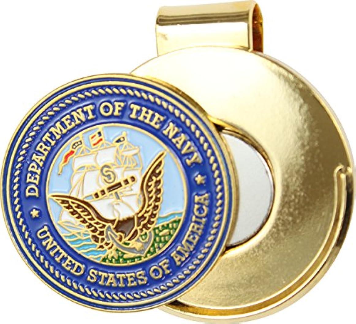 小道増加する小康米国海軍キャップクリップとゴルフボールマーカー