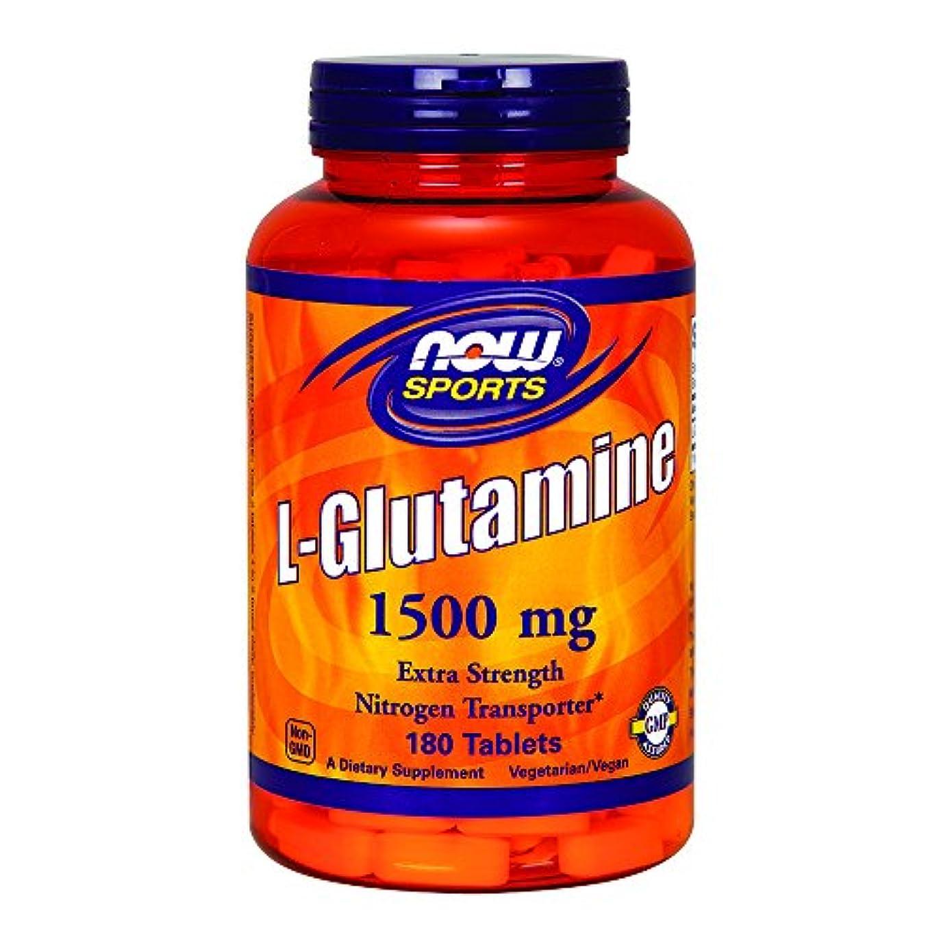 気分が良い滞在低下[海外直送品] ナウフーズ  - Lグルタミン 1500 mg。180錠剤