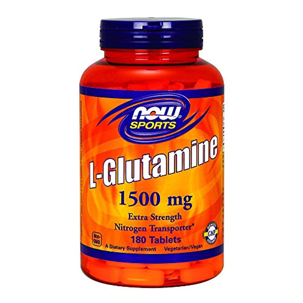強制的インペリアル階層[海外直送品] ナウフーズ  - Lグルタミン 1500 mg。180錠剤