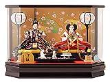 吉徳大光 雛人形 ケース 入り 親王飾り ひな人形 73-yscp-322051
