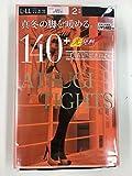 アツギタイツ(ATSUGI TIGHTS) 140デニール ブラック L~LL 2足組 ×2個セット