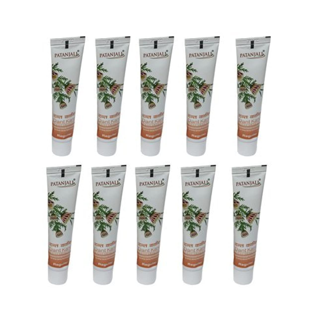 10 x Patanjali Dant Kanti Toothpaste Dental Cream 100gm (Pack of 10) [並行輸入品]