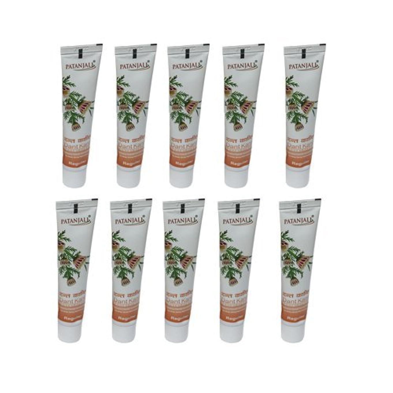 薬を飲むびん降下10 x Patanjali Dant Kanti Toothpaste Dental Cream 100gm (Pack of 10) [並行輸入品]