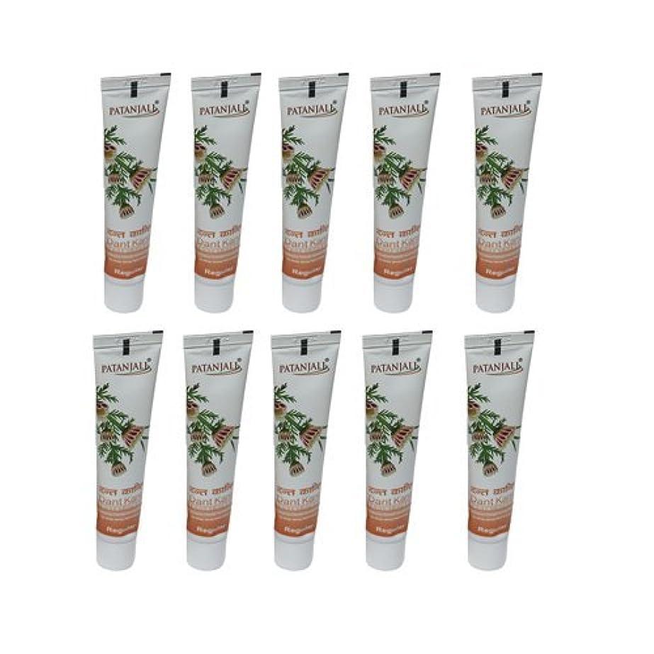 熱狂的な寛大さ痴漢10 x Patanjali Dant Kanti Toothpaste Dental Cream 100gm (Pack of 10) [並行輸入品]