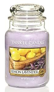 ヤンキーキャンドル ジャータイプ Lサイズ(燃焼時間約110~150時間) アメリカ製 YANKEECANDLE レモンラベンダー