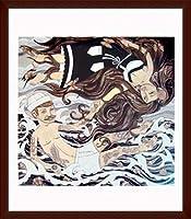 ポスター エバン ハリス barnacles & butterflies 額装品 ウッドベーシックフレーム(ブラウン)