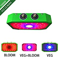1000W LED COB植物成長ランプ、VEG BLOOM野菜花苗用の調光可能なフルスペクトルデュアルチップ植物育成ライト