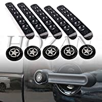 5pcs/set Aluminum Exterior Door Handle Star Push Button Insert Cover Trim for 2007-2017 Jeep Wrangler JK Unlimited 4Door Sahara Rubicon [並行輸入品]