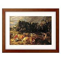 ピーテル・パウル・ルーベンス Peter Paul Rubens 「Polderlandschaft mit einer Kuhherde. Um 1618/20.」 額装アート作品