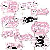 Funny Purr-FECT 子猫 - 子猫の鳴き声 ベビーシャワーまたは誕生日パーティー写真ブース小道具キット - 10ピース