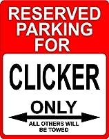 """クリッカーOccupation予約駐車場のみOthers Towed飾りSign 9"""" x12""""プラスチック。"""