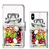 [FFANY] iPhone 11 Pro カードタイプ 香水 ボトル コスメ りぼん キャンディ perfume ケース 手帳カバー スマホケース perfume@t112@04