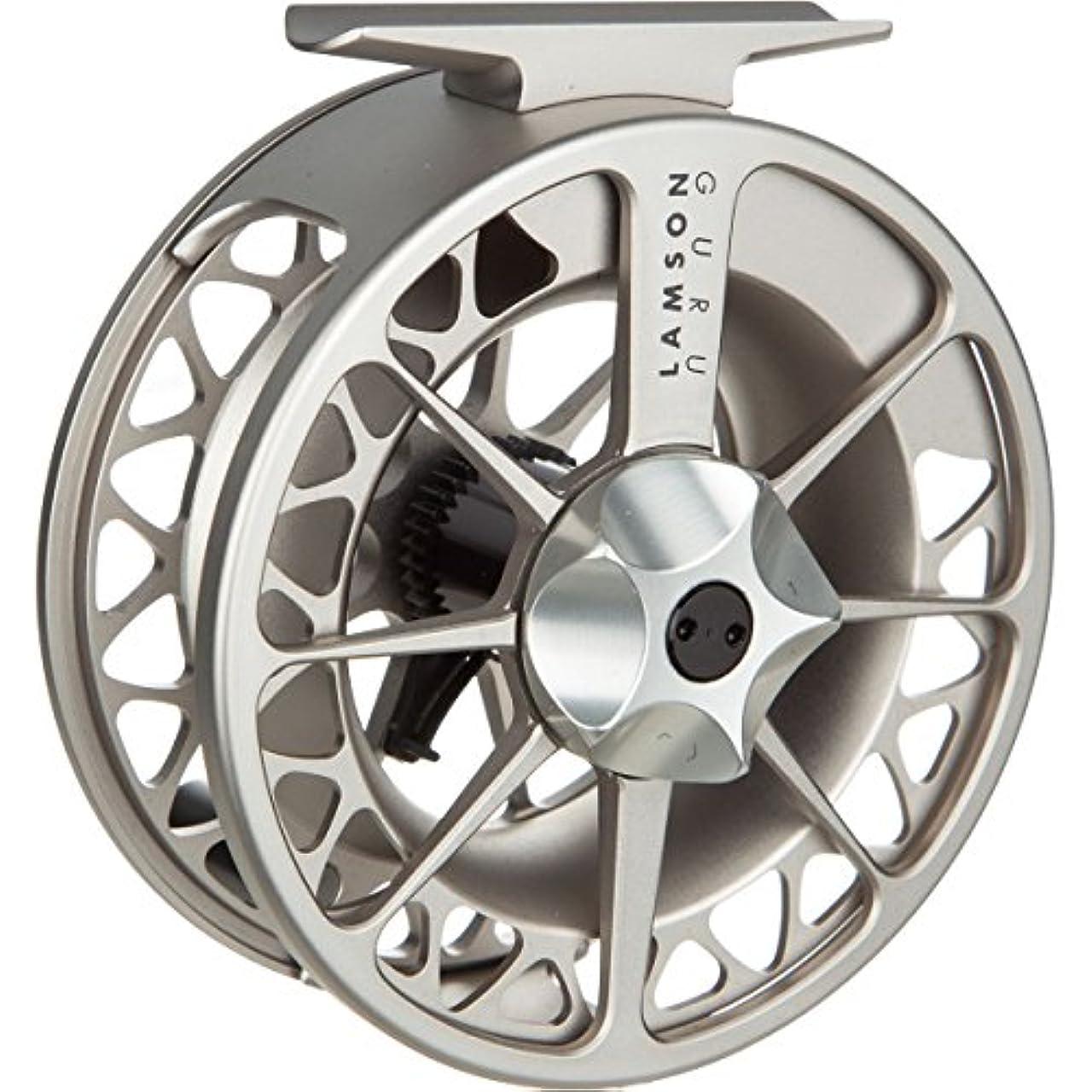 何十人も縫い目成功するWaterworks Lamson Guru 2 Fly Reel' Silver' G1.5