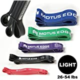 (Black (Light)) - Motus Edge LIGHT Resistance Band - CrosstFit, Assisted Pull-Up Band, Mobility, Rehab, Stretching - BLACK (12-24kg)