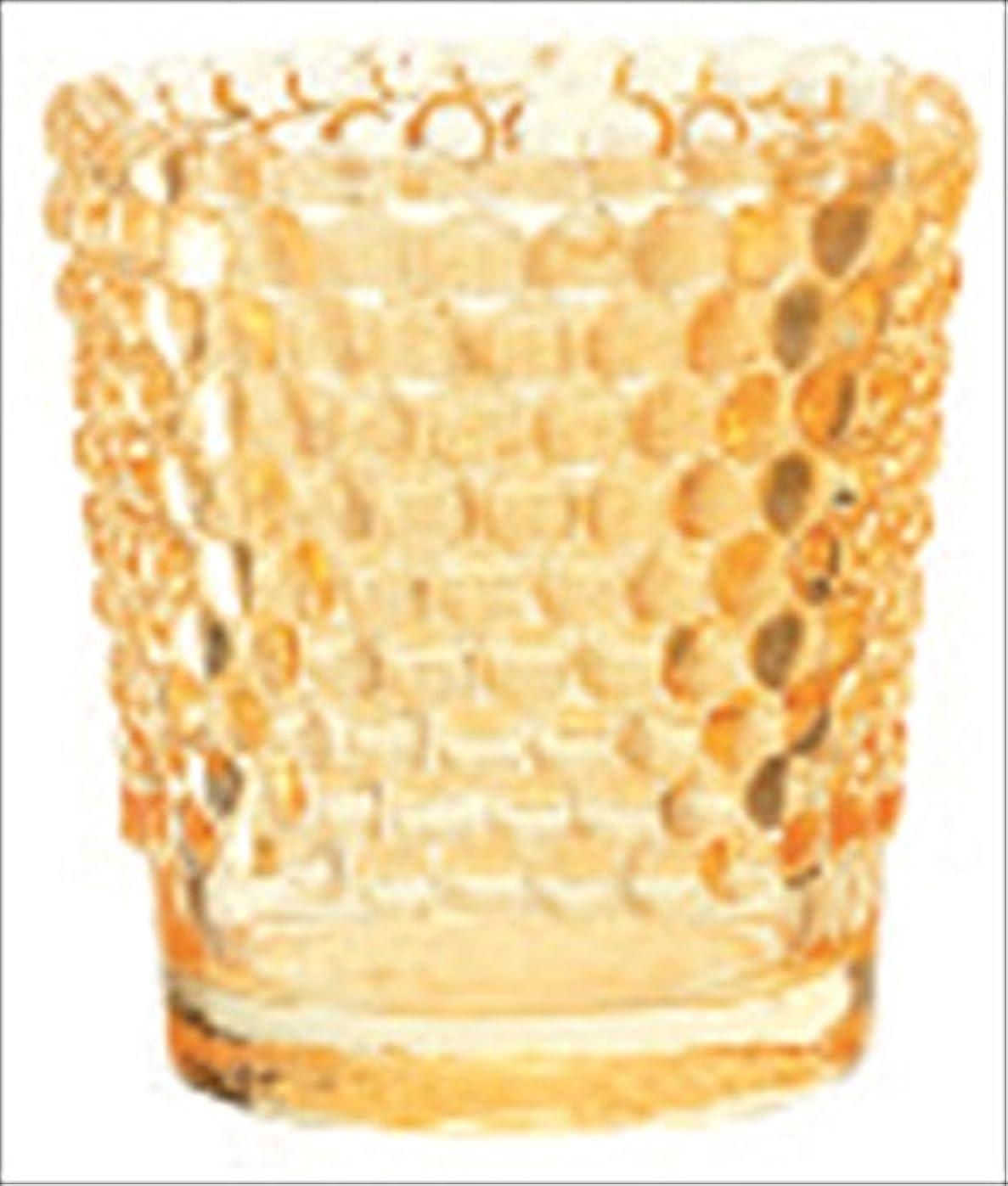 乗算スポンジ貧困カメヤマキャンドル( kameyama candle ) ホビネルグラス 「 アンバー 」