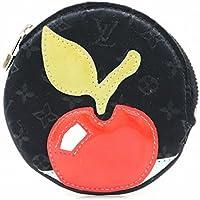 [ルイ ヴィトン] LOUIS VUITTON モノグラムサテン コントドゥフェ コインケース 小銭入れ 丸型 アップル リンゴモチーフ ノワール 黒 ブラック M92272