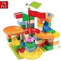 コースター積み木おもちゃ DIY積み木 立体パズルおもちゃ  想像力、創造力育てる 知育玩具 子供、女の子 男の子 74pcs(Happy Time)
