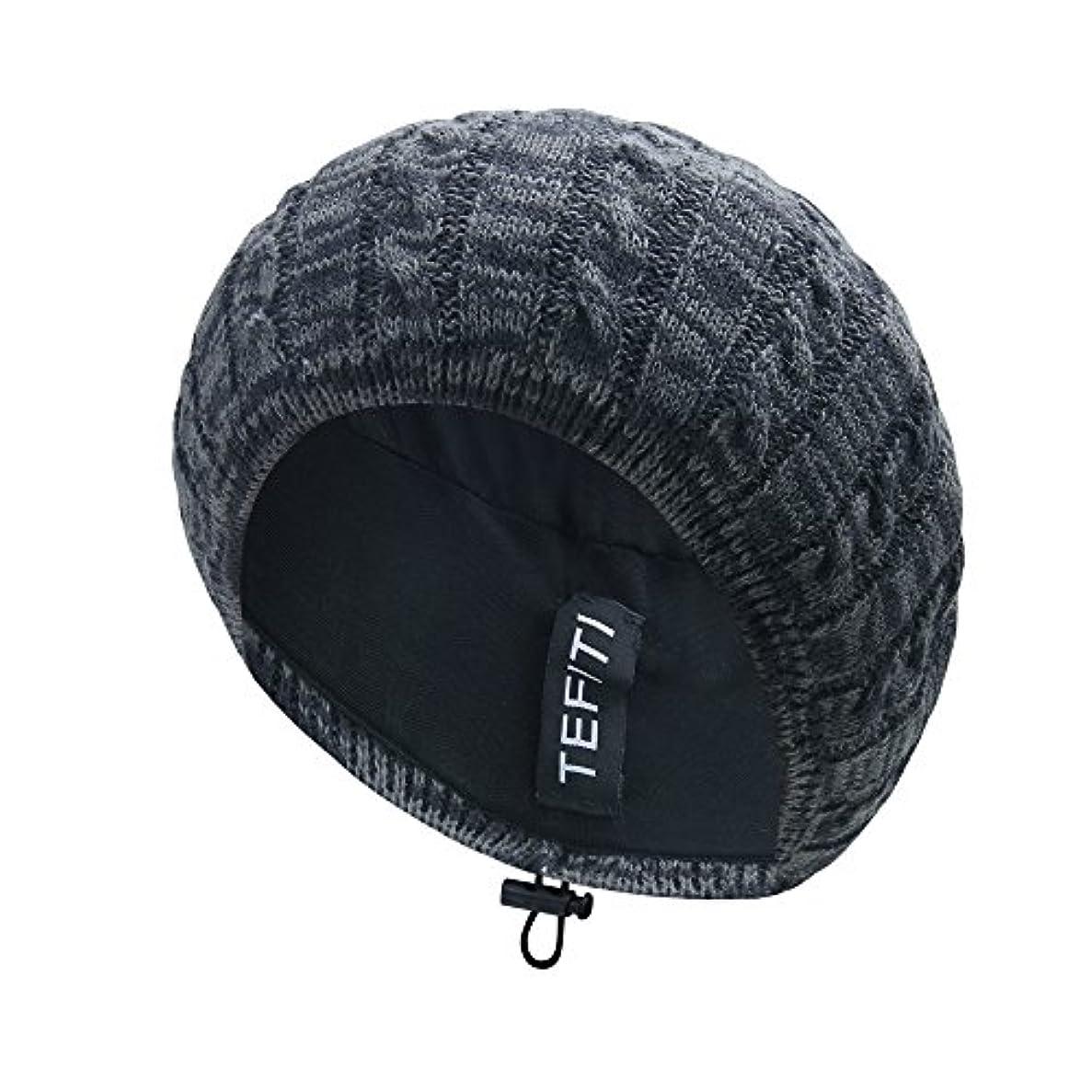 納得させるベルトホイットニーレディース帽子、cococap調整可能ニットビーニーベレー帽レディースガールズ軽量ヘアネットスヌード帽子