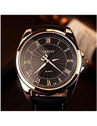 LinTimesローマ数字スケールビジネスカジュアルファッションメンズ腕時計クォーツアナログ腕時計ブラックバンドブラックダイヤル