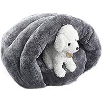 ペットベッド ペット マット クッション 冬 防寒 滑り止め 洗える フカフカ 暖かい 柔らかい 犬 猫 屋内用 (グレー )