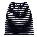 オーバースカート 防寒グッズ 巻きスカート ラップスカート (Navy*L/Beige)