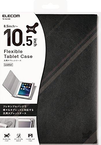 エレコム 8.5~10.5インチ汎用タブレットケース レザータイプ TB-10LCHBK 1個