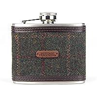 Heritage Traditions 4oz Green Box Tweed Hip Flask