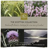Edinburgh Tea & Coffee Company, The Scottish Collection 4-Flavor Variety Pack, 40-Count Tea Sachets by Edinburgh Tea & Coffee Company