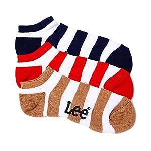 (リー) Lee ワイドボーダースニーカー用ソックス・3足セット/メンズ AC6051A315 90A アソートA 25-27cm