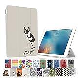 MIxUP iPad mini4 スマート カバー バック ケース 手帳型 スタンド 機能 アイパッド ミニ4 おしゃれ かわいい 動物 犬 いぬ フレンチ ブルドッグ MXP-M4-ssANI-dog