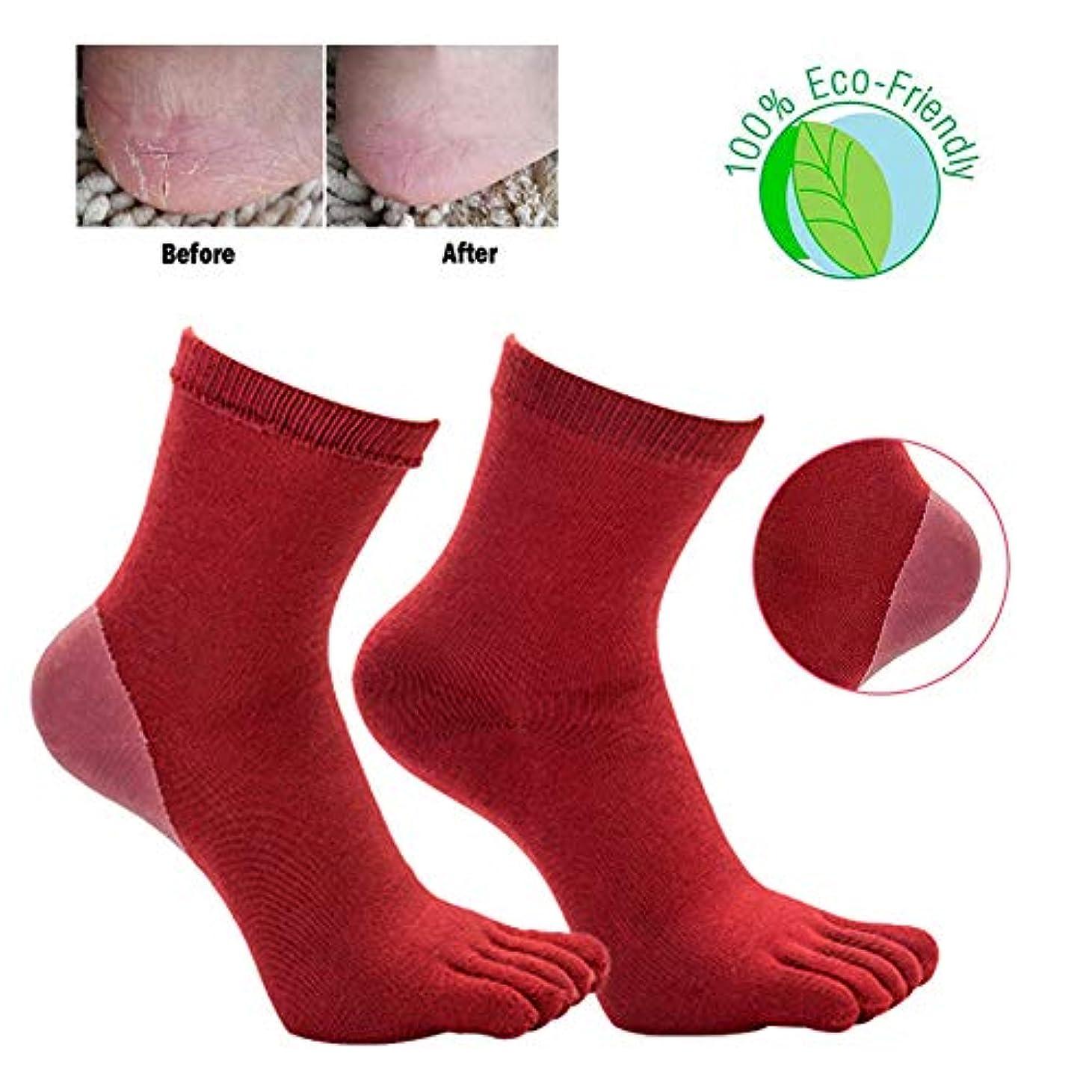 自体有能な降伏ひび割れ防止靴下秋と冬のアンチ足ひび割れ靴下アンチ足かかと割れひび割れエッセンシャルオイルジェルフットケア保湿女性靴下