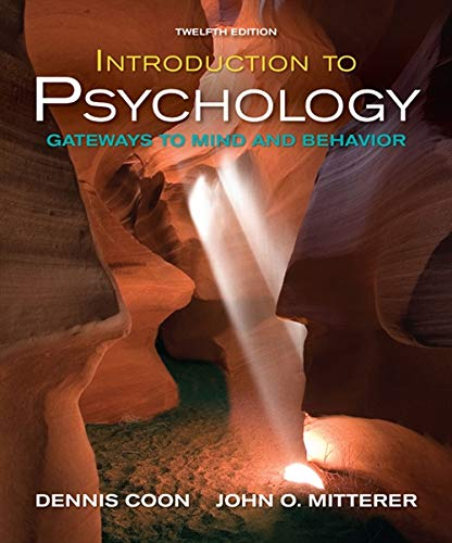 Download Introduction to Psychology: Gateways to Mind and Behavior (Available Titles Cengagenow) 0495599115