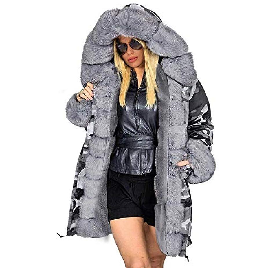 やりがいのあるカメクラックファッションコートウィンタージャケット女性フードパーカーロングウォームコットンジャケットアウターウェア女性ウィンターコートプラスサイズ,XXXL