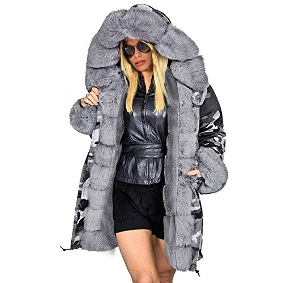 型殺す受信ファッションコートウィンタージャケット女性フードパーカーロングウォームコットンジャケットアウターウェア女性ウィンターコートプラスサイズ,XXXL