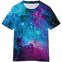 SAYM Boys' Youth Kids Galaxy Comfy Soft Moisture Wicking Tops Tees Shirts