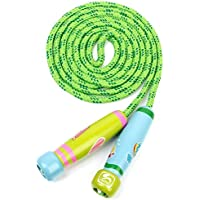 Adjustable Jumping Skipping Rope With Wooden Handle For Kids