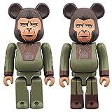 ベアブリック 猿の惑星 コーネリアス & ジーラ 2パック 各全高約70mm 塗装済み 完成品 フィギュア