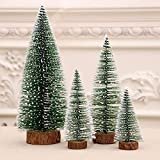 Mini Christmas Tree, Desktop Miniature Pine Tree, Small Pine Tree with Wooden Bases for Xmas Holiday Party Home Tabletop Tree