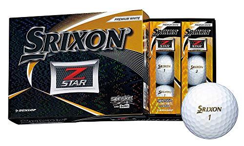 DUNLOP(ダンロップ) ゴルフボール SRIXON Z-STAR ゴルフボール 2019年モデル 1ダース(12個入り) プレミアムホワイト