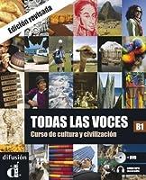 Todas las voces: Libro + audio MP3 descargable + DVD (B1) - revised edition by Joaquin Diaz Corralejo(2010-11-15)