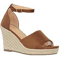 MVE Shoes Women's Open Toe Cutout Ankle Strap Platform Wedge