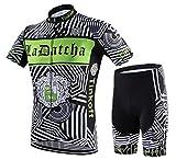 サイクルジャージ サイクルウェア 2016 上下セット メンズ 半袖 春夏用 自転車ウェア サイクリングウェア (XL, d6)