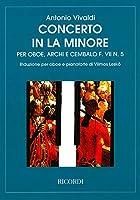 ヴィヴァルディ : オーボエ協奏曲 イ短調 F.VII-5 RV461 (オーボエ、ピアノ) リコルディ出版
