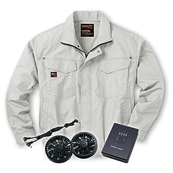 空調服 ブルゾン 【空調服+リチウムセット】 ss-ku91400-l シルバー L