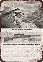 S-RONG雑貨屋 Weatherby 300 Magnum Rifles ブリキブリキ 看板レトロ デザイン Xmas 贈り物 30x40cm