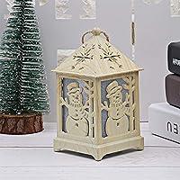 クリスマス LED ライト 木製ボックス ハウス型 キャビンライト 7つの色 変更する クリスマス飾り プレゼント ギフト 卓上ライト アウトドア ホーム クリスマスツリー木の装飾