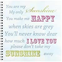 PS Inspirations–You Are My Sunshine Blue Sky Inspirational Art–Drawing Book 8x8 drawing book db_164541_1