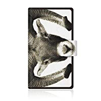 CaseMarket 【手帳型】 au Xperia acro HD IS12S スリムケース [ CaseMarket Zoo I love Animals ! - ムフロン ] レザー手帳