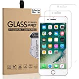 iPhone 7 plus, 8 plus, Screen Protector Glass, Arae Tempered Glass [2.5D Edge] Screen Protector [Case Friendly] for Apple iPhone 7 plus, 8 plus (2-Pack)