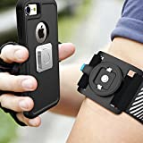 スポーツアームバンドBovon ランニング用 マグネット搭載 調整可能 iPhone 7/7 Plus, iPhone 6S, Samsung Galaxy S8/ S8 Plus/ S7/S7 などに対応 (ブラック)